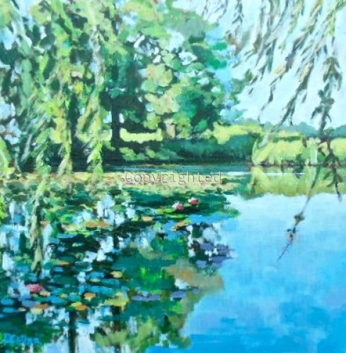 Lily Pond on Sound Avenue
