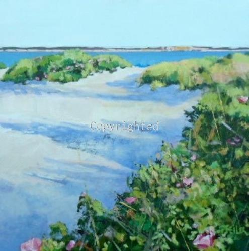 Sundown on New Suffolk Beach