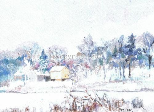 Winter on James Creek Mattituck