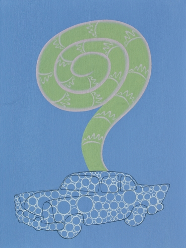 """Bubble Car and Fiddle Head Fern"""