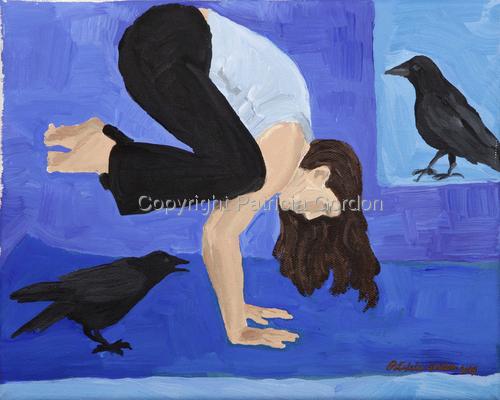 Blue Mat Crow Print
