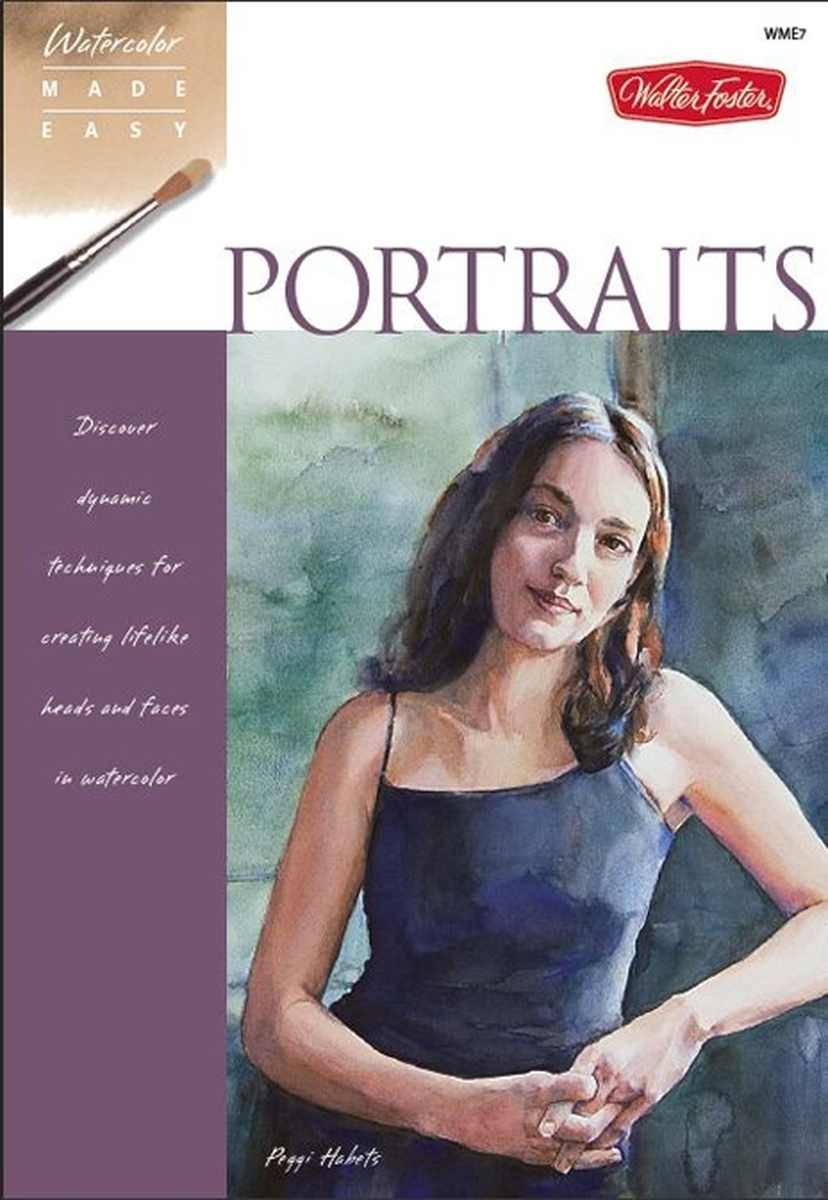 """Watercolor Made Easy: Portraits"" book (large view)"