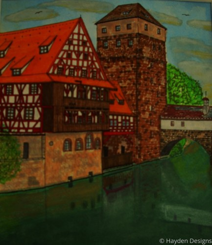 River Scene Nurenburg Germany