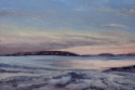 Hannah Phelps, landscape painting, contemporary impressionism, oil painting, Quincy, Massachusetts, New England, water, marsh, beach, tidal flat, low tide, sunset, Boston - Landscape Painting