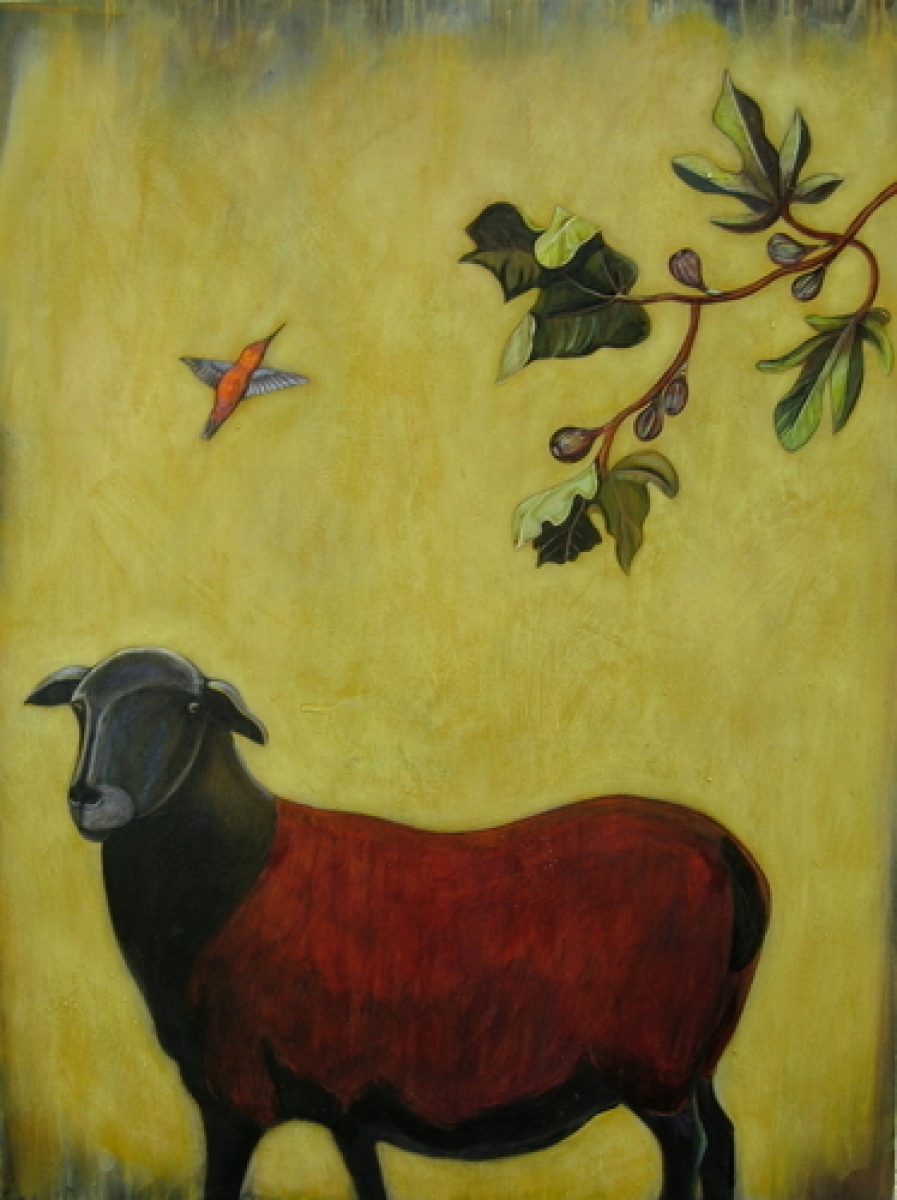 Sheep and Fig Tree (large view)