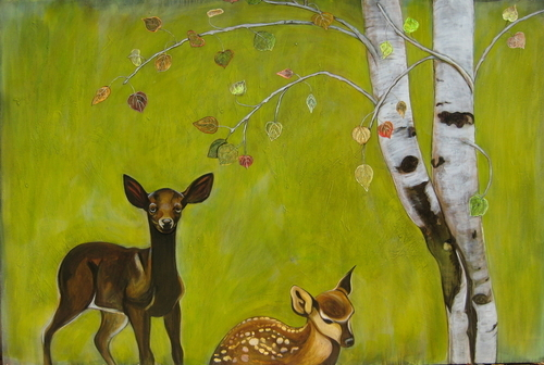 Aspen Fawns (large view)