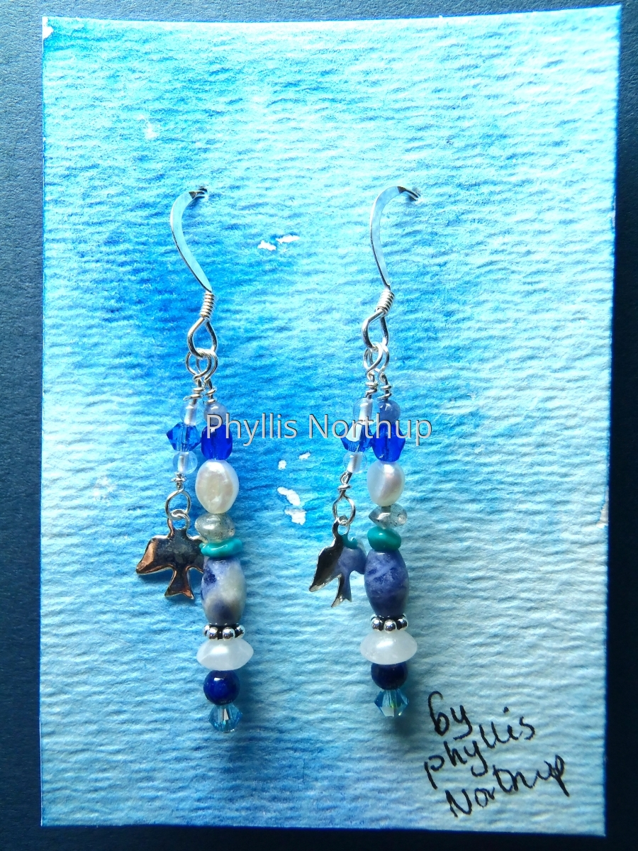 """Sky"" Earrings (large view)"