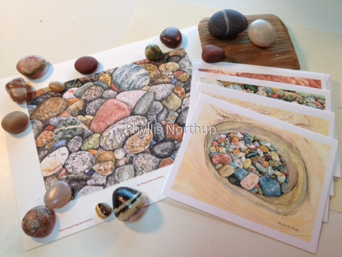 Stones Print and Notecards Set (large view)