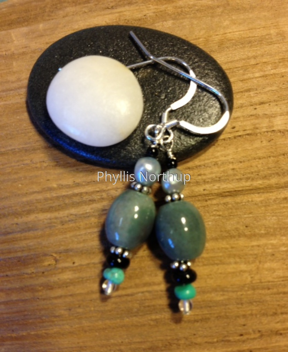 Earrings in Fancy Jasper and Turquoise (large view)