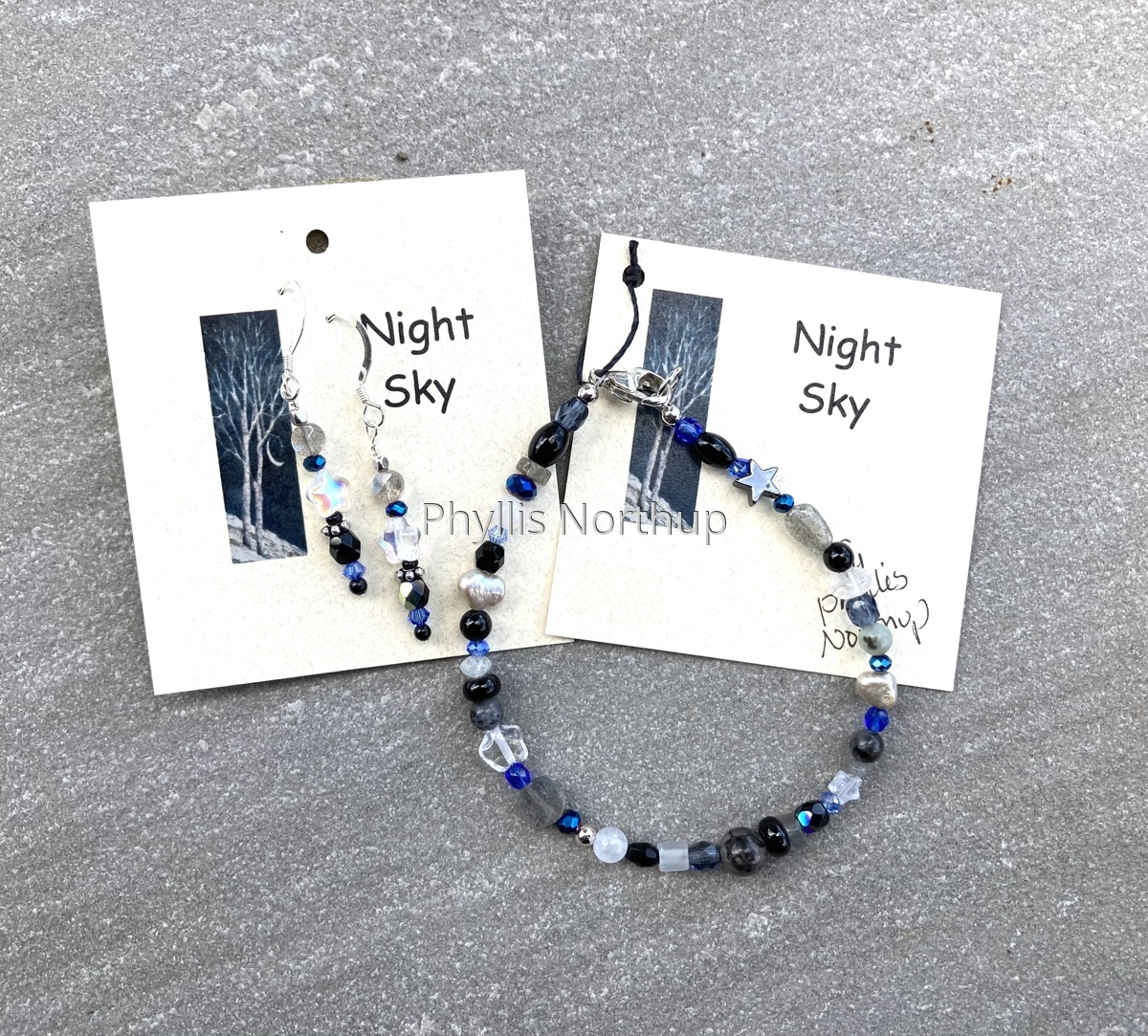 Night Sky earring and bracelet set (large view)