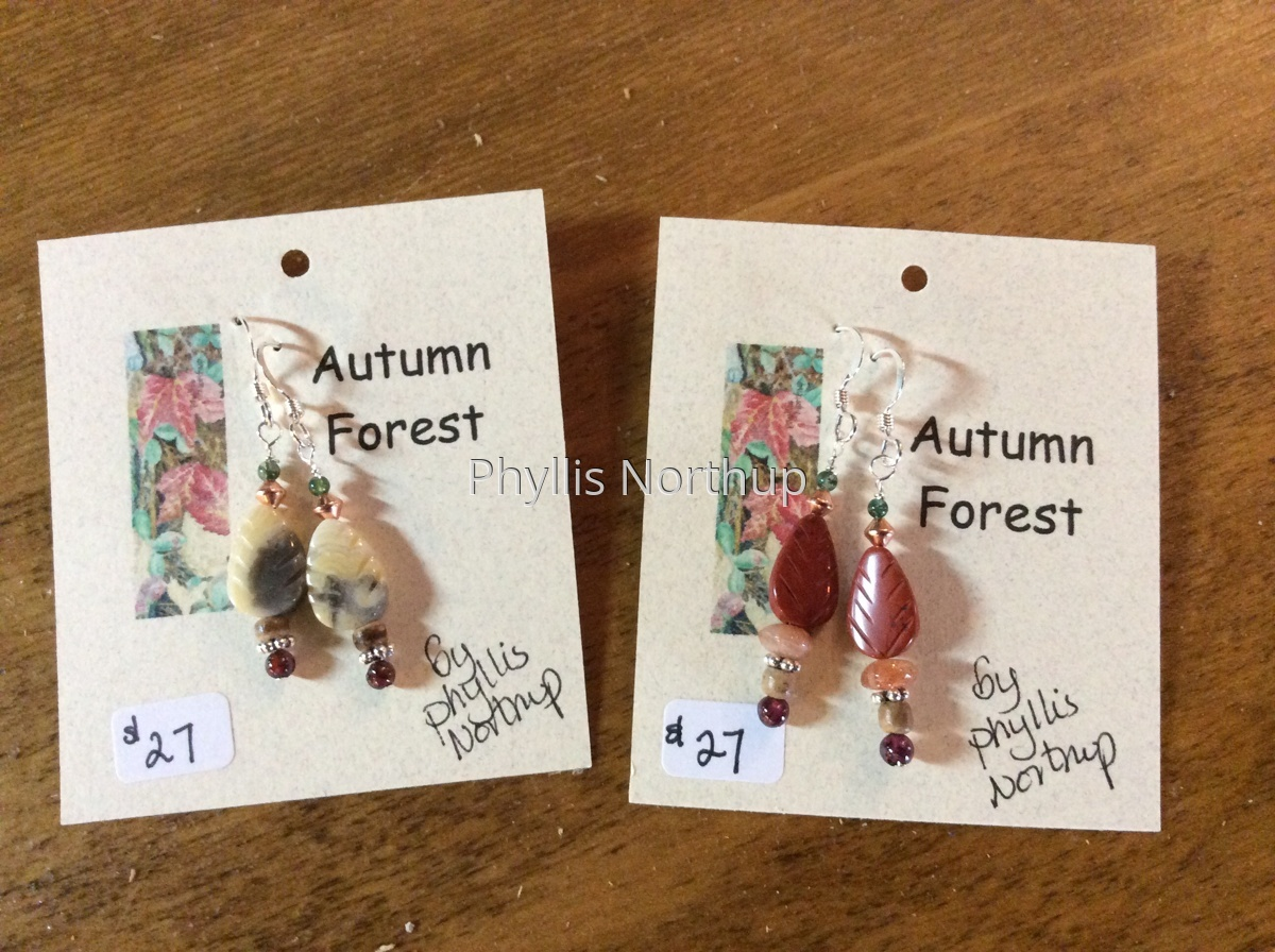 Autumn Forest Earrings  (large view)