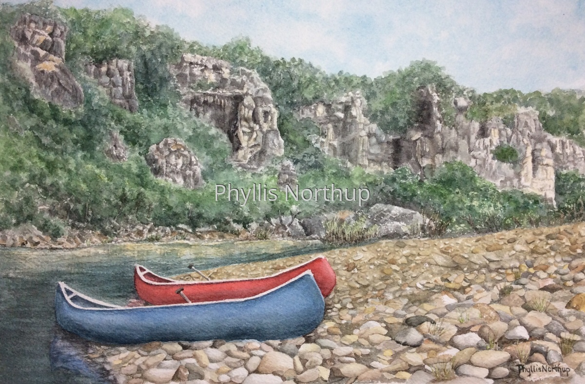 Canoes on the Buffalo River (large view)