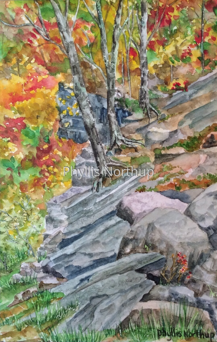 Rock Outcrops in Fall (large view)