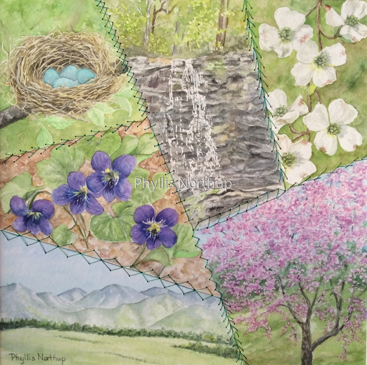 Crazy Quilt - Spring (large view)