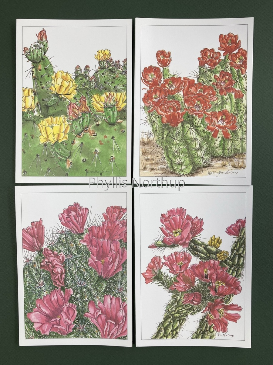 Cactus Notecards (large view)