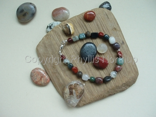 Mixed Gemstone Pebble Bracelet   (large view)