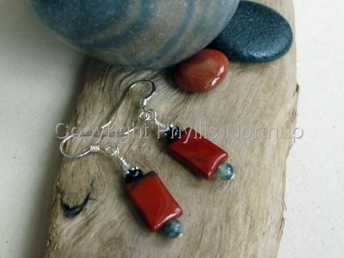 Red Jasper Earrings (large view)