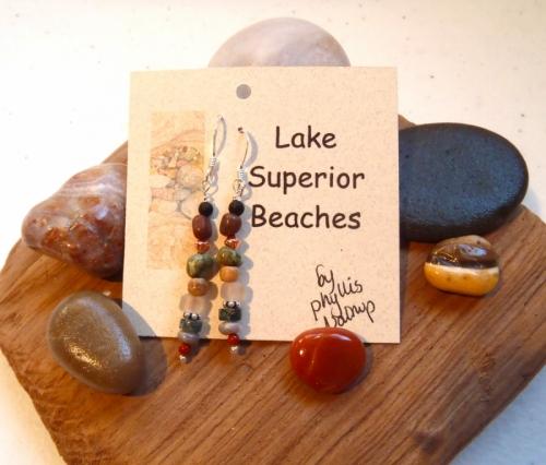 Lake Superior Beaches Earrings (large view)