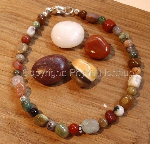 Pebbles and Rounds mixed gemstone bracelet (large view)