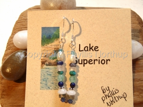 Lake Superior Earrings (large view)