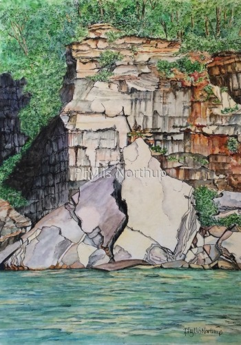 Sail Rock, Pictured Rocks National Lakeshore  (large view)