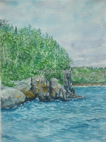 Rock Harbor Shoreline by Phyllis Northup