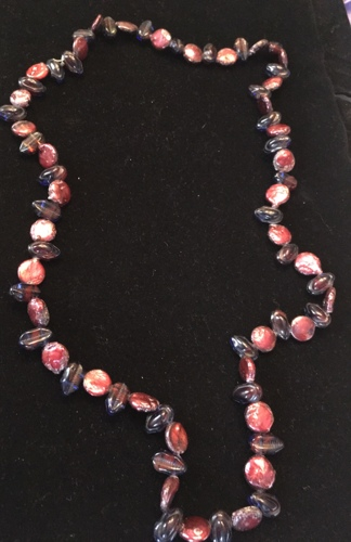 Tinted red Freshwater Pearl Necklace