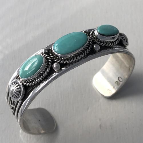 Arizona turquoise bracelet by Peter Johnson