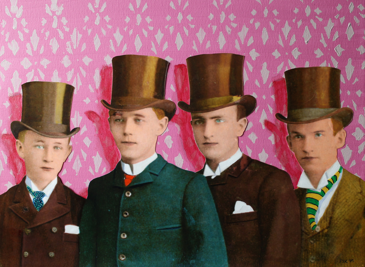 Four Brooklyn Guys in Top Hats (large view)