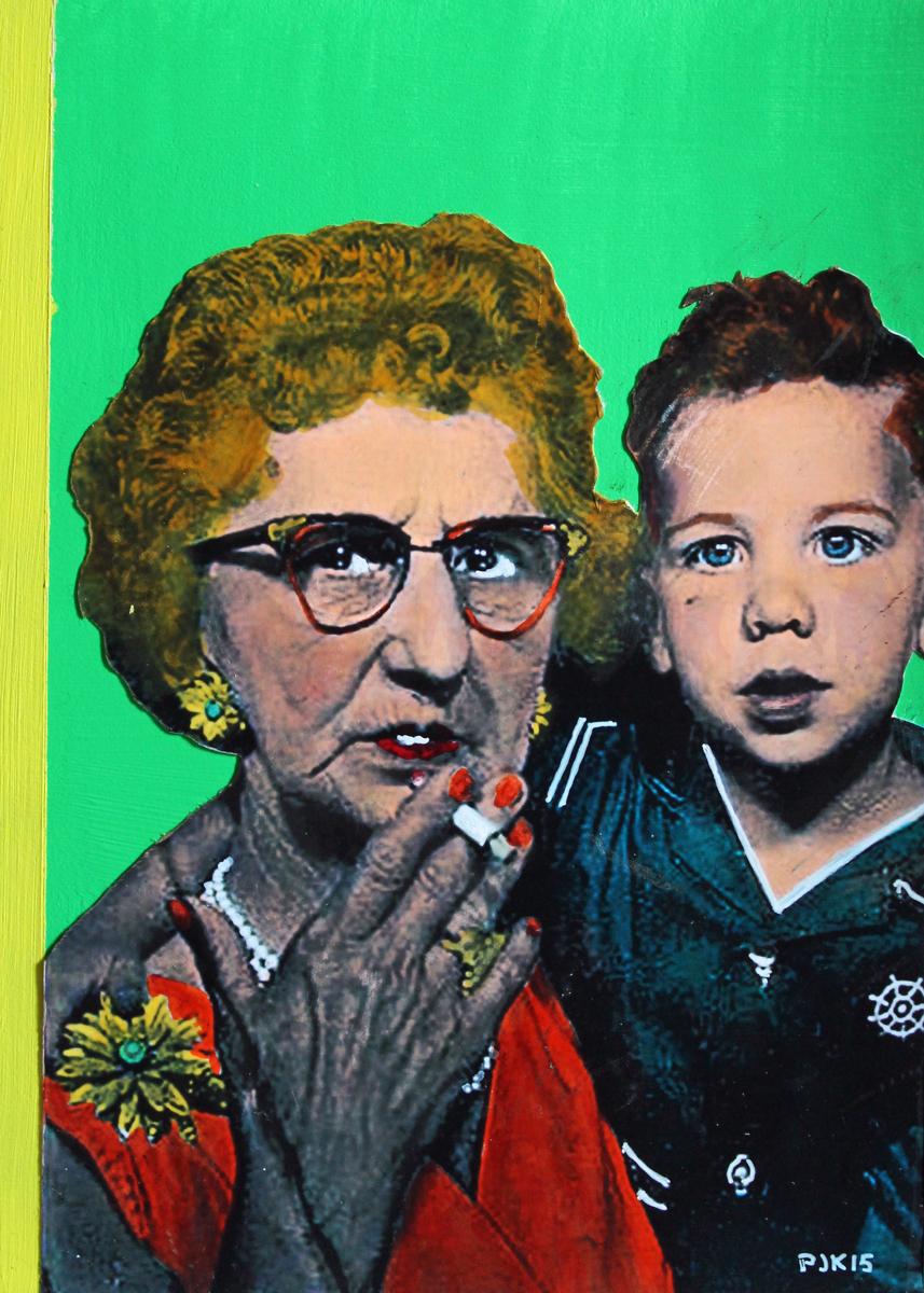 Grandma Koz and Freddie (Easter) (large view)