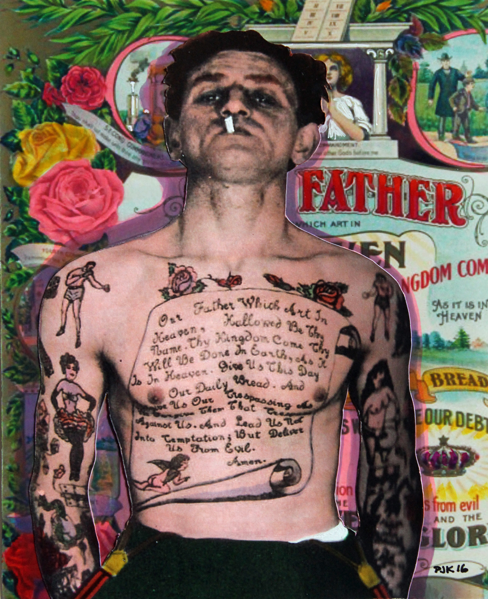 THE MAN WITH THE LORD'S PRAYER TATTOO (large view)