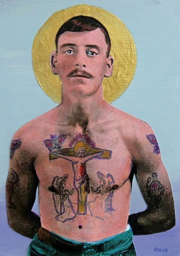 The Man With Jesus on His Chest