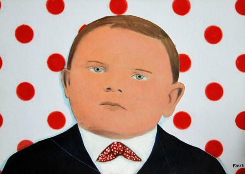 The Round-Headed Boy with Polka Dots (large view)
