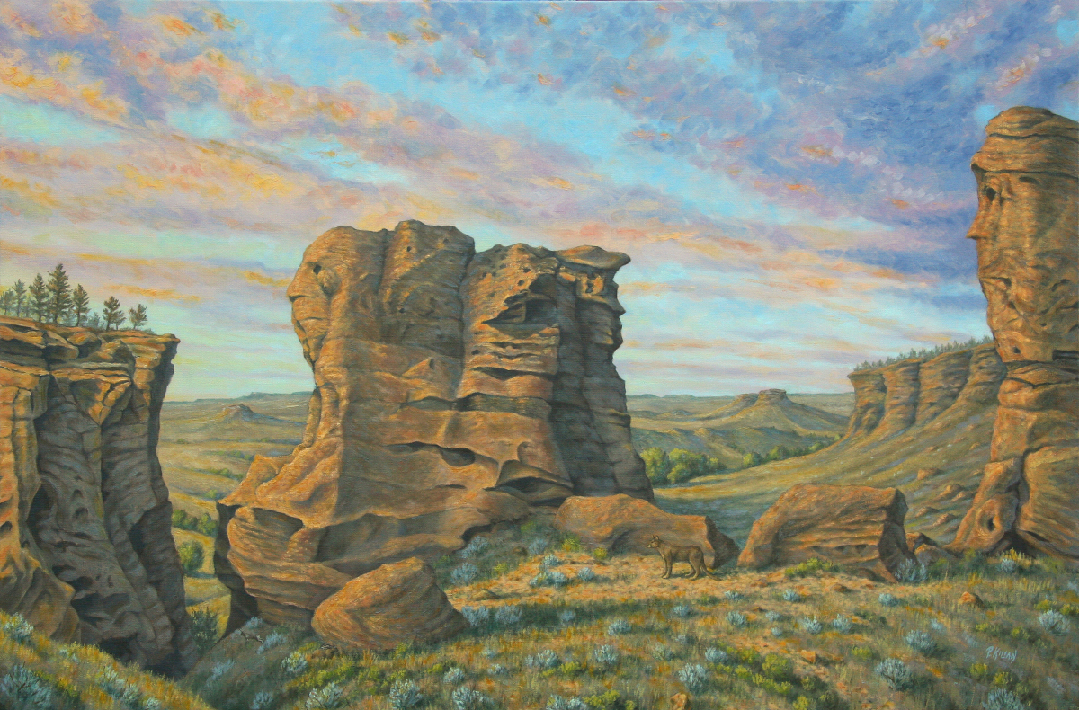 Cave Hills Twilight (large view)