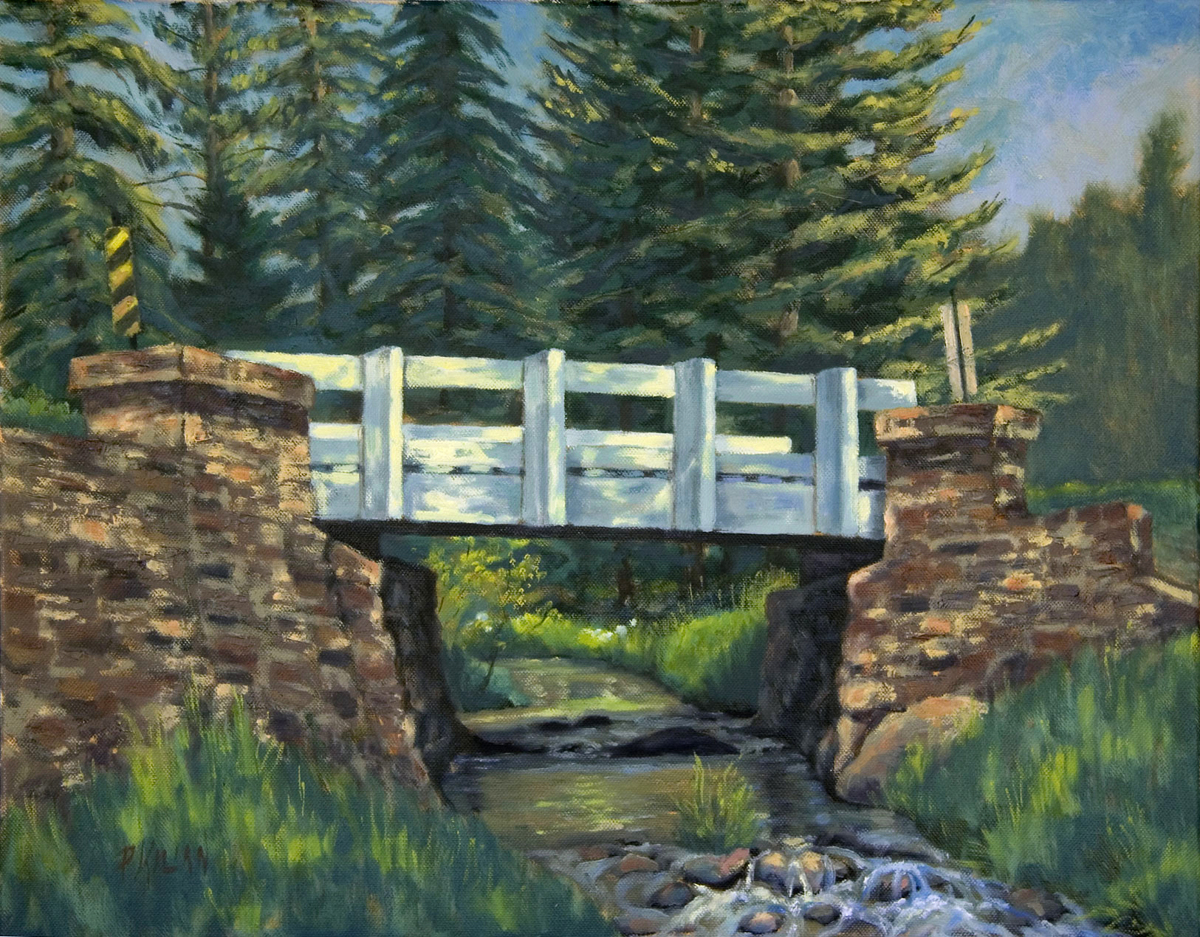 The White Bridge - Upper Spring Creek (large view)