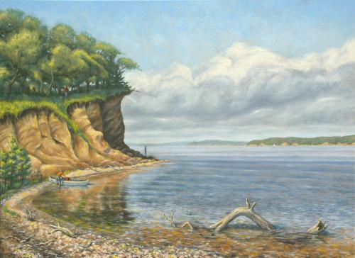 Missouri River Morning (Bottom-lands Memories) (large view)