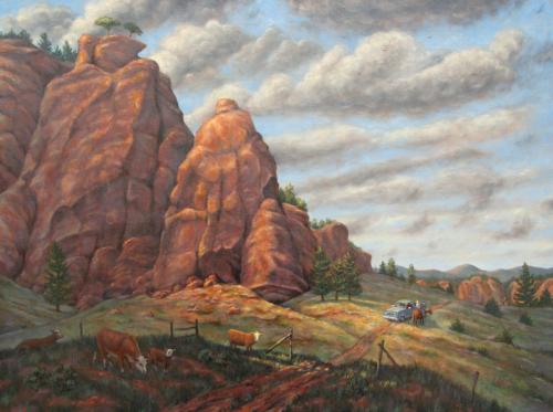 Red Rocks Rendezvous (Uranium) by Peter Kilian Fine Art