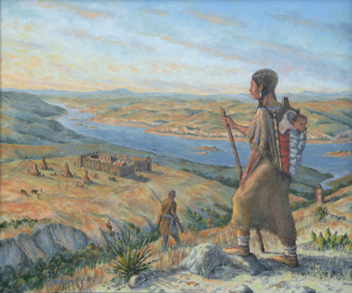 Sacagawea Above Fort Manuel, 1812 by Peter Kilian Fine Art