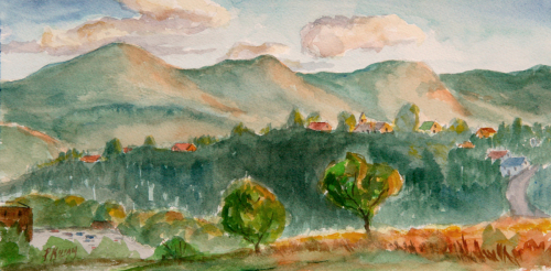 View of Seven Sisters, Hot Springs (thumbnail)