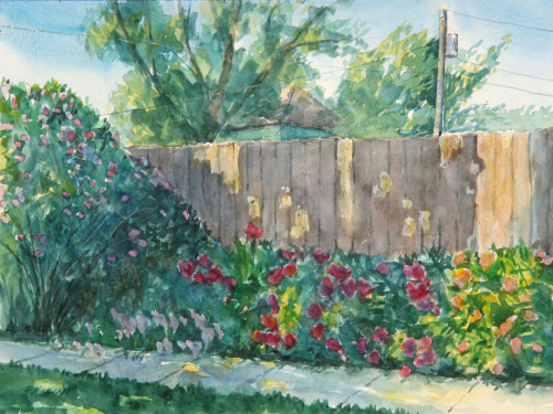 Peonies and Wild Roses (large view)