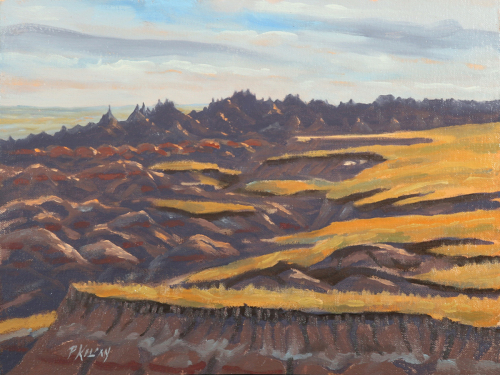 Late Afternoon - Big Badlands (large view)