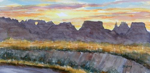 Sunset on Old NE Road (thumbnail)