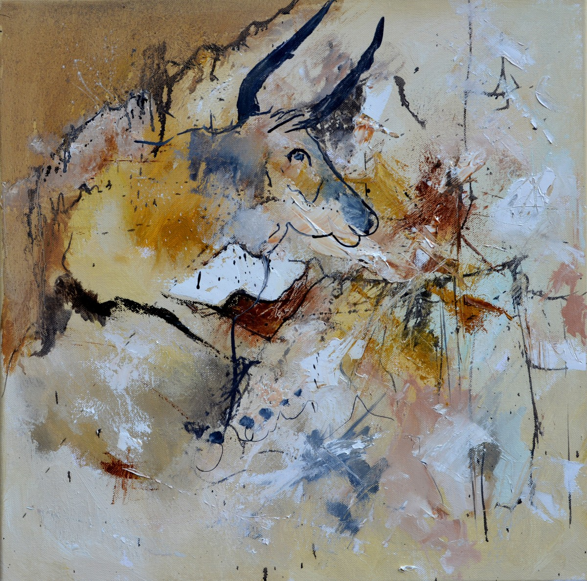 abstract lascaux bull (large view)