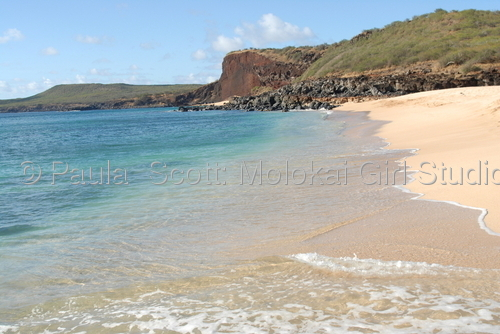 Pohaku Moiliili Beach, Molokai by Paula  Scott: Molokai Girl Studio