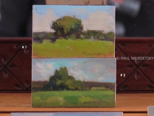 2 tiny paintings