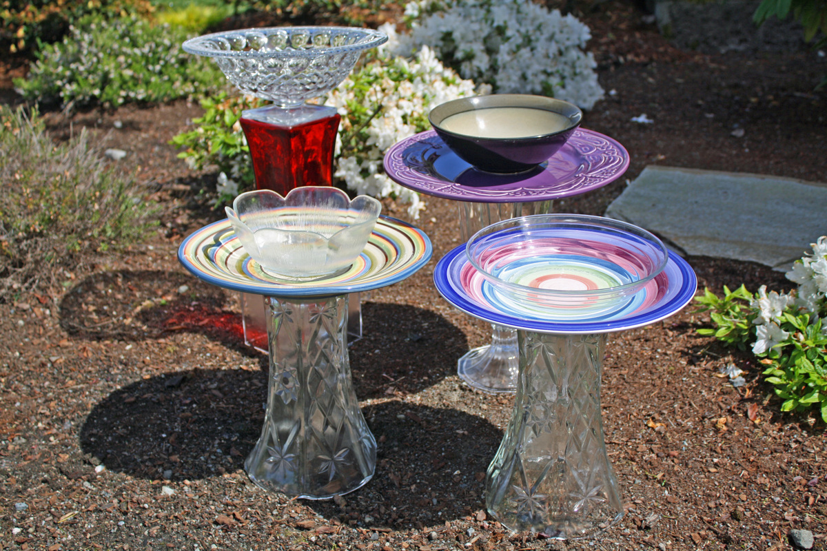 Assorted Bird Baths (large view)