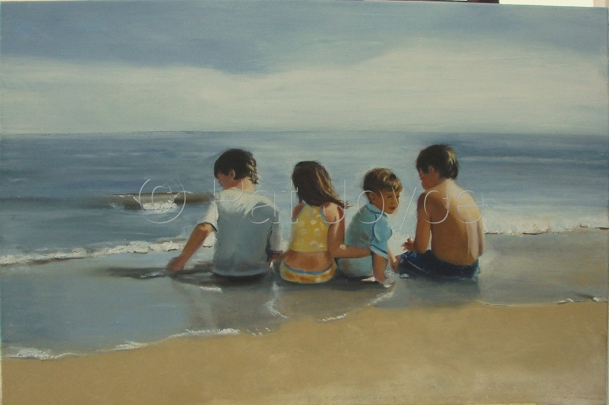 Four Children on the Beach (large view)