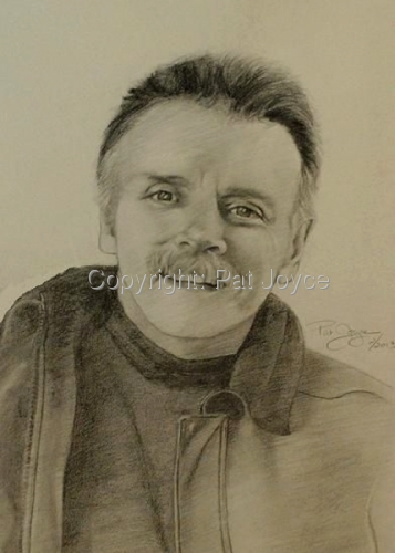 postumous portrait drawing completed within a few days for memorial, complted in graphite an charcoal (large view)