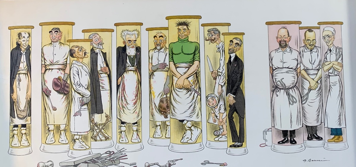 French Medical Society Caricatures (large view)