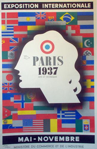 Exposition international, French, 1937, Paris, Sports, olympics, international, original, Poster (large view)